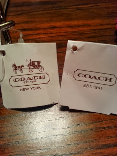 coah outlet cglc  The boutique bag price tag left has a different logo than the factory bag